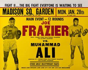1974 Boxing MUHAMMAD ALI vs JOE FRAZIER Glossy 8x10 Photo Title Fight II Poster