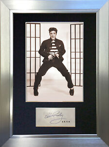 ELVIS PRESLEY JAIL HOUSE ROCK Signed Autograph Mounted Photo Repro A4 Print 409