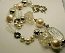CHICO'S LONG CLEAR PLASTIC/LUCITE NECKLACE.