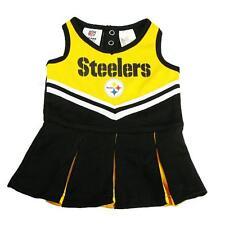 New NFL Pittsburgh Steelers Toddler Girls Cheerleader Dress Sizes 2T-4T Football