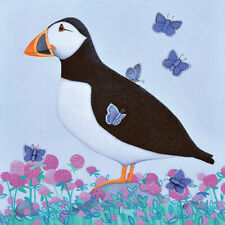Ailsa Black - Puffs of Blue - Canvas READY TO HANG 30 x 30cm