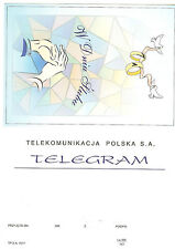 TELEGRAMME POLOGNE  THEMES MARIAGE ALLIANCES BIJOUX MAINS VITRAUX