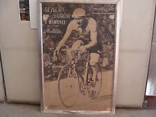 FOTO GINO BARTALI IN BICICLETTA GIGANTOGRAFIA 1950 EPOCA OLD DEI BIANCHI EROICA