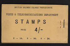 BR.SOLOMONS IS.1959 4/- COMPLETE BOOKLET SB1.