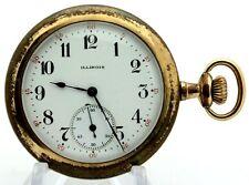 1921 Illinois Watch Co. 17j S12 Grade 405 Double Roller Pocket Watch RUNS W66