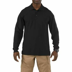 5.11 Tactical Men's Utility Long Sleeve Polo, Polyester-Cotton, Style 72057