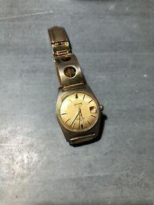 Vintage Waldman 25 Jewels Wrist Watch Gold Tone Bracelet Automatic Working Order