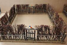 6 Antique Vintage Nativity Christmas Train Twig Willow Stick Fence Gate, Putz?