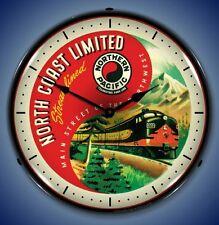 New Northern Pacific North Coast Limited Light Up train railroad clock 🚂🚂🚂
