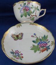 Antique Herend Porcelain Cup & Saucer Porzellan Queen Victoria Tasse Hungary