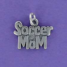 Soccer Mom Charm Sterling Silver for Bracelet Game Team Ball Sports Coach NEW