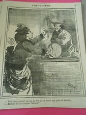 Caricature 1873 - Voila votre galette une paire de lunette au lieu d'une fève