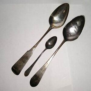 Three 18th Century Coin Silver Spoons Marked - Known Philadelphia Makers