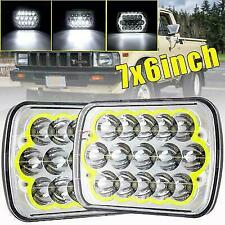 "Pair 5X7"" 7""x6"" 180W LED Headlights Hi/Lo Halo Ring DRL for Toyota Pickup Truck"
