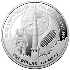 Australien 1 Dollar 2019 - 50 Jahre Mondlandung - Anlagemünze - 1 Oz Silber ST