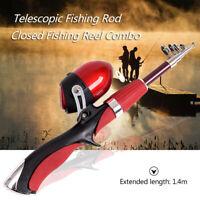 Lixada Portable 1.4m Telescopic Fishing Rod and Closed Fishing Reel Combo V0N9