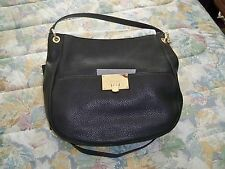 MICHAEL KORS BLACK CHANNING LARGE SHOULDER 38F5YCHL3L NEW