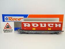 """ROCO H0 46368 Einheitstaschenwagen SNCF """"ROUCH"""" OVP M1040"""