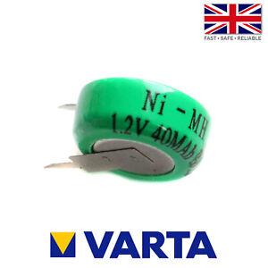 Varta 1/V40H / V40H Ni-MH 1.2V 40mAh Rechargeable 2 Pin Button Cell Battery