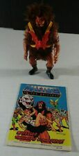 Vintage He Man MOTU Grizzlor 1985 Mattel Figure with Comic