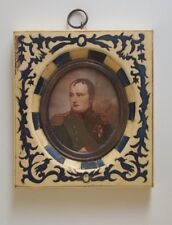 An early french hand painted miniature portrait for NAPOLEON , signed VERNET
