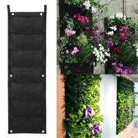 7 Pocket Garden Vertical Wall Mount Planter Plant Growing Bag Felt In/Outdoor
