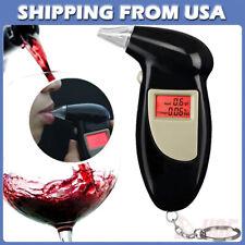 LCD Digital Police Alcohol Breath Analyzer Breathalyzer Tester Detector Keychain