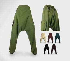 Ali Baba Trousers - Unisex Harem Boho Festival Pants - 100% cotton