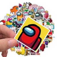 50pcs Among Us Sticker Cartoon Game For Kids DIY Laptop Bottles Bike Skateboard