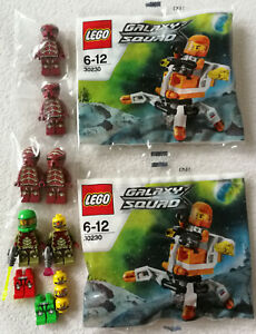 Lego Galaxy Squad 6 Figurines+Accessoire+2x Polybag 30230 Mini Mech Neuf
