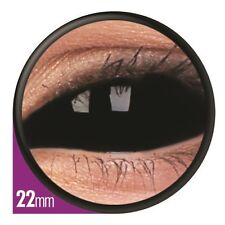 SCLERA BLACK paire lentille de couleur noir contact lens 22mm fulleye integrale