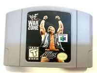 WWF War Zone - Nintendo 64 N64 Game Authentic Tested + WORKING!