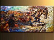 """100% hand-painted horse modern knife oil paintings on canvas 24X48""""(no framed)"""