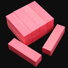 10Pcs Pink Nail Art Buffer File Block Pedicure Manicure Buffing Sanding Polish