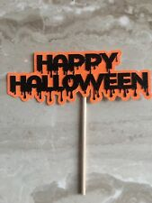 Happy Halloween Cake Topper. Spooky, Ghost, Spider, Witch, Pumpkin.