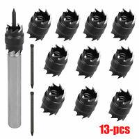 """13 Pack Double Sided 3/8"""" Spot Weld Cutter HSS Drill Bit Remover Welder Cut Tool"""
