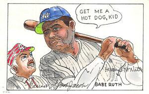 "2046 20c Babe Ruth Ham McNatt H/P of ""Spook"" Jacobs Baseball Parade [213640]"