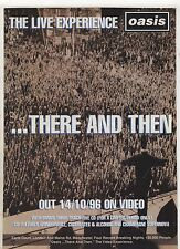 (-0-) oasis ..there and then VHS Original A4 magazine ADVERT (-0-) 003