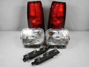 88-98 HEADLIGHTS TAILLIGHTS Chevy GMC SILVERADO SIERRA C1500 C2500 C3500 Pickup
