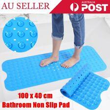Anti Non-slip Shower Mat Suction Bath Tub Floor Pad for Bathroom Safety Blue