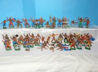 3 Vintage rare Collection Rubber Indians 55pcs GDR Germany 70's