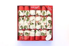 Robin Reed H7 Christmas Holiday 6pc 12in Themed Crackers - Bows & Berries