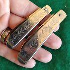 Rare Vintage Antique Embossed 1800s Era Pen Fob Folding Pocket Knife Knives