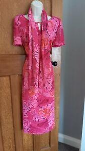 Jaques Vert Pink Summer Dress Size 14 - Wedding