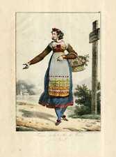 Femme de la vallée de Tesino en Tyrol.
