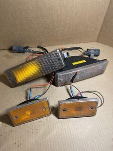 Lot Of 4 Jaguar Left Right Turn Signal Indicator Lamps XJ6 1988 - 1991