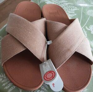 Ladies Lulu Cross Slide Sandals by FitFlop size 6
