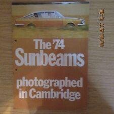 CHRYSLER SUNBEAM H120 Alpine Rapier UK Market Car Sales Brochure 1974