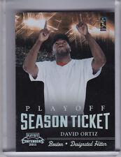 2011 CONTENDERS #3 DAVID ORTIZ PLAYOFF SEASON TICKET BOSTON RED SOX 65/99 0094
