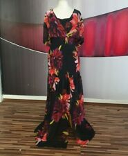 GORGEOUS COAST CURVE SHEERED CHIFFON FLORAL PRINT MAXI DRESS SIZE 18